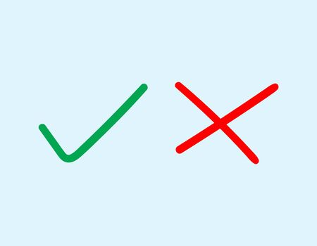 right choice: Vector of hand draw check marks icon