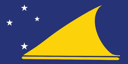 tokelau: Vector of tokelau flag