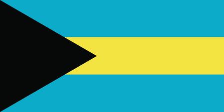 vector of the bahamas flag Illustration