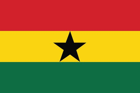 vector background of ghana flag
