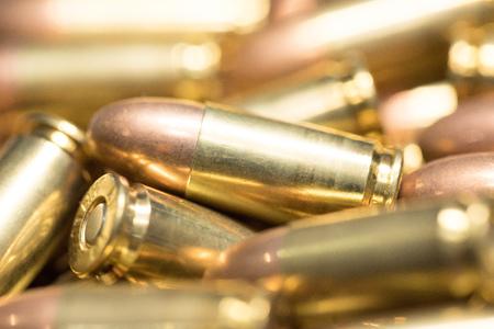casings: background of 9mm bullet