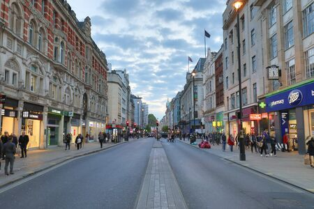 regent: LONDON, ENGLAND - APRIL 4 :View of Oxford Street in London on April 4, 2017 Editorial