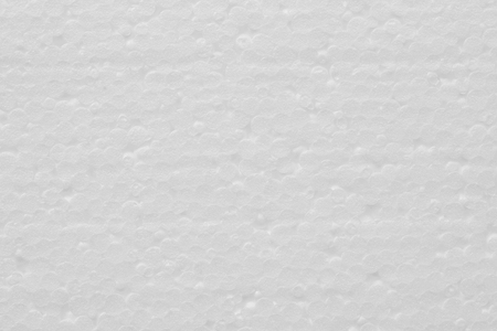 background of white polystyrene foam texture Stock Photo