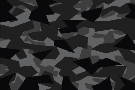 vector background of black geometric camouflage Иллюстрация