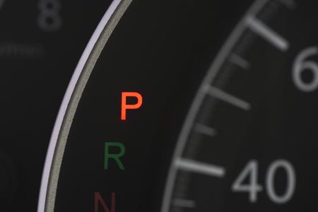 car speedolimit dashboard with p  sign Stok Fotoğraf - 82752816