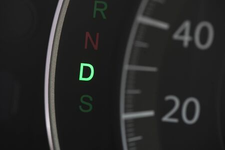 car speedolimit dashboard with d  sign