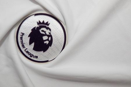 lionhead: BANGKOK, THAILAND - AUGUST 22: the logo of the new english premier league logo on August 22,2017