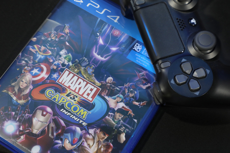 BANGKOK, THAILAND - SEPTEMBER  2017: The New Marvel vs Capcom Infinite on September 27,2017. in Bangkok Thailand.