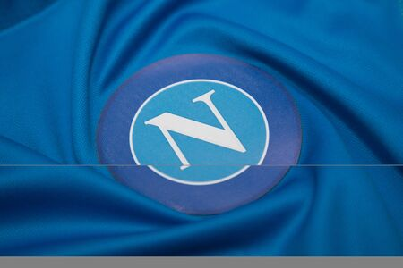 BANGKOK, THAILAND -OCTOBER 18: The Logo of Napoli  football club on an official jersey on October 18,2017.