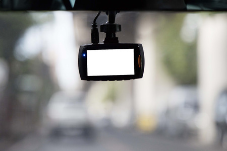 CCTV car record camera with blank space
