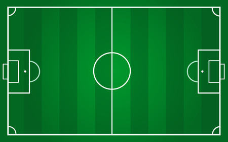 vector of football pitch template 스톡 콘텐츠 - 102676987