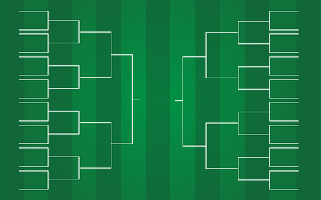 vector of 16 teams tournament bracket templates Illustration