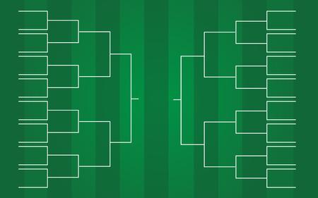 vector de plantillas de soporte de torneo de 16 equipos
