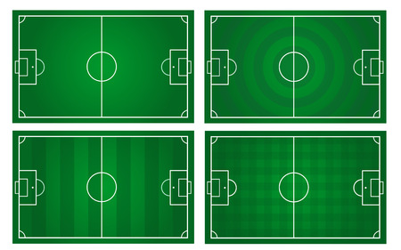 vector of football pitch template with 4 grass pattern