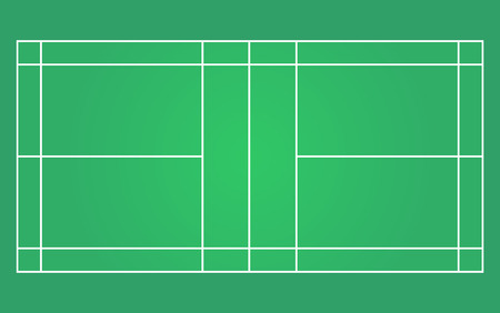 vector of green badminton court