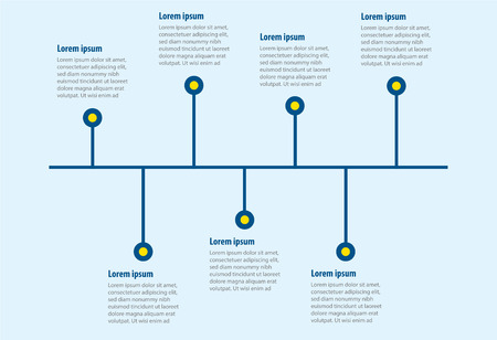 vector of 7 steps linear infographic templated Vector Illustration