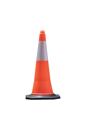 isolated traffic cone on white background Stok Fotoğraf