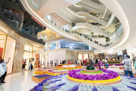 BANGKOK, THAILAND - NOVEMBER 11 : Interior View of The ICONSIAM, The New Shopping Mall with Apple Store in Bangkok Thailand on November 11, 2018.