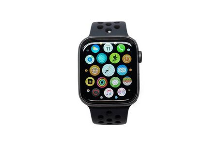 BANGKOK, THAILAND-NOVEMBER 11: View of Apple Watch 4 Nike Edition which just Launched this Month on November 11, 2018