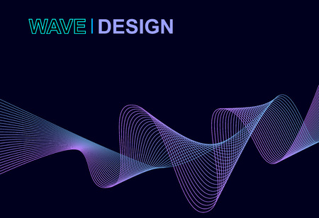 vector of abstract blue and purple  wave design background
