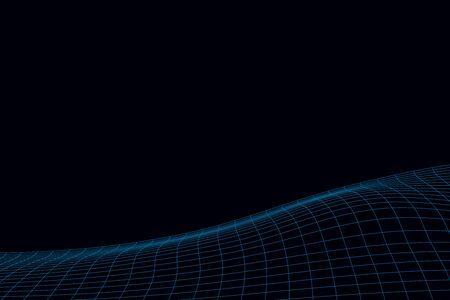 Distorted wavy grid background