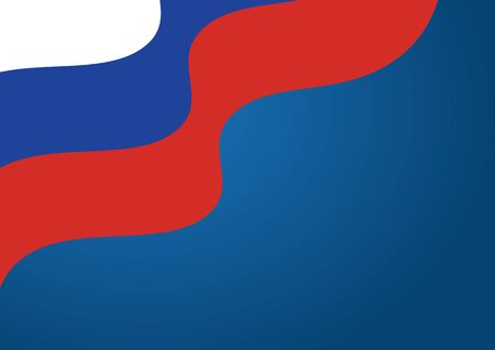 Russian Rippled Flag Against Blue Background For Russia Day 版權商用圖片 - 148090412