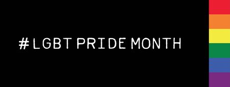 Social Media #LGBT Pride Month Hashtag on Black Background