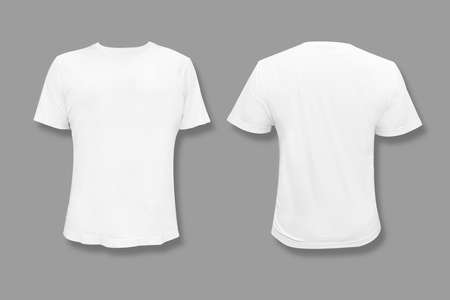 Isolated White T-Shirt with Blank Copy Space For Graphic Design