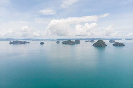 Aerial View of  koh lao bi le or Hong Island