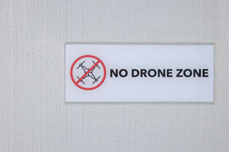 No Drone Sign on the Wall