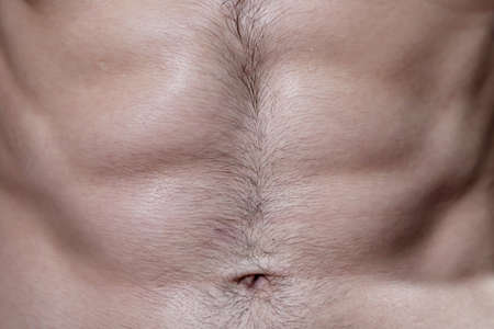 Close Up on Hairy Six Pack MaleTorso