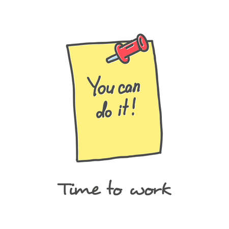 Inspirational quote You Can Do It vector illustration