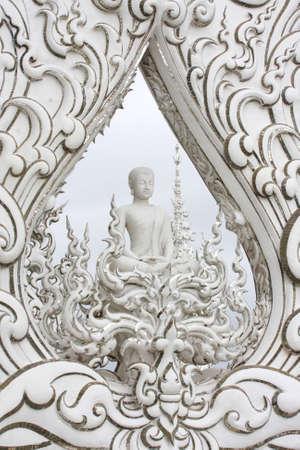 buddha image: Blanco Buddha imagen Foto de archivo