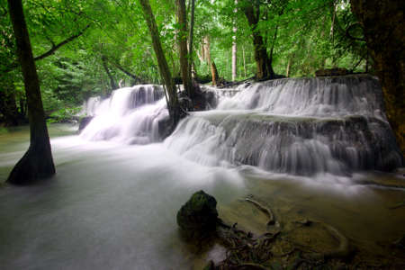 kamin: Huay Mae Kamin Waterfall Stock Photo