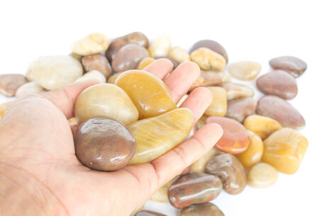 screened: Screened gravel or river rocks used in home decor.