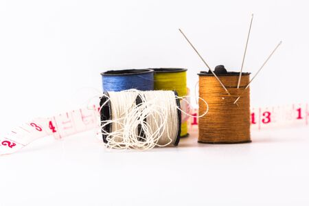 wor: Three needle embroidery sewing threads