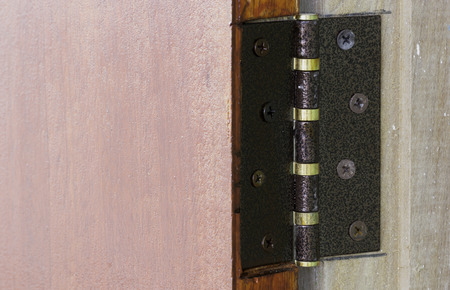 ferruginous: Door hinges are installed successfully Moi. By the way screws are stretched between the door and the door jamb.