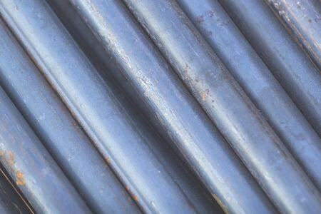 Gros plan de la barre de fer qui est vide. Avec acier mince et rouillé Banque d'images - 75163342