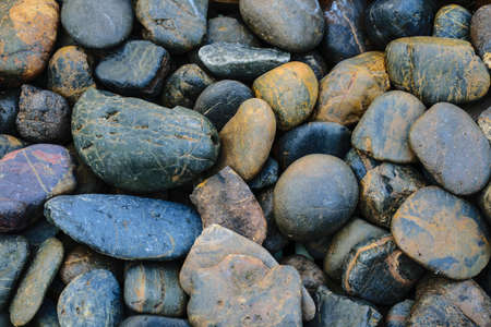 Randomly Arrange of Colorful Rock photo