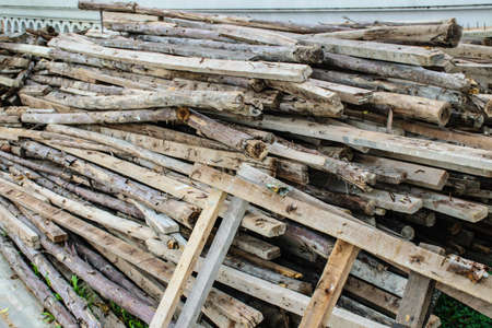 workable: Wood preparation with randomly arrangement Stock Photo