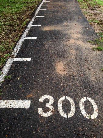metre: Running way with 300 metre
