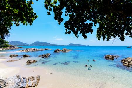 Beautiful andaman sea at Kalim beach near Patong Phuket Thailand.