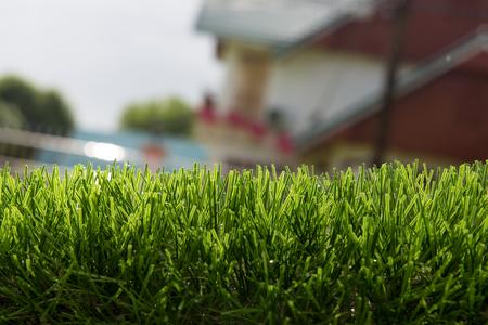 artificial turf under sunlight Foto de archivo - 109284684