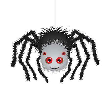 Cute cartoon spider.Vector .