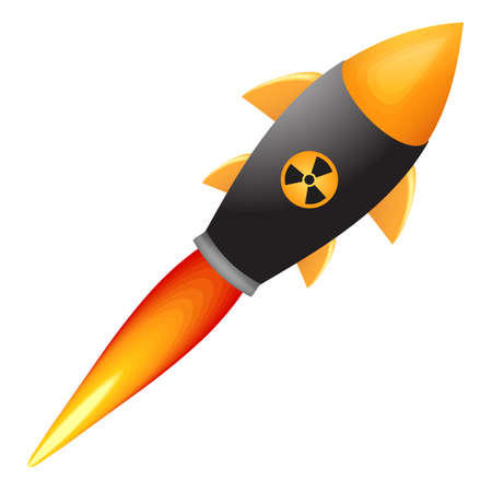 nuclear weapon: Nuclear bomb.Vector eps 10 isolated.