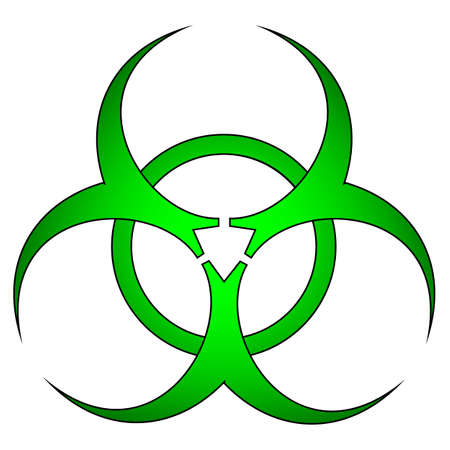 biological warfare: Toxic green sign.Vector isolated.