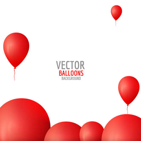 red balloons: Vector red balloons.Balloons background. Red balloons composition. Abstract background.