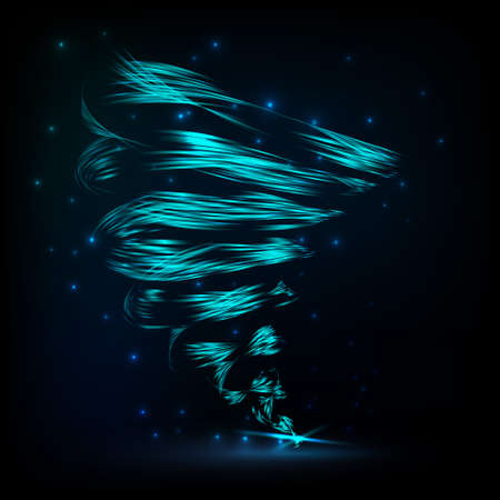 curl whirlpool: Vector abstract tornado. Bright abstract twist on dark background.With space for text.