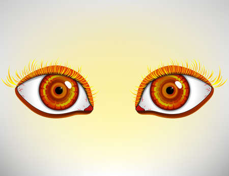 bright eyes: Cartoon style eye. Colorful bright eyes. Vector isolated.