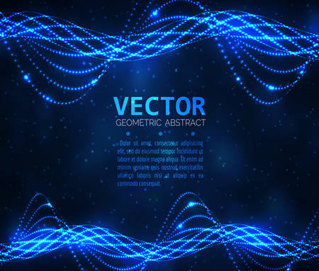 typhoon: Abstract glowing spiral. Vector particles lights. Abstract dark background. Abstract blue lines. Illustration